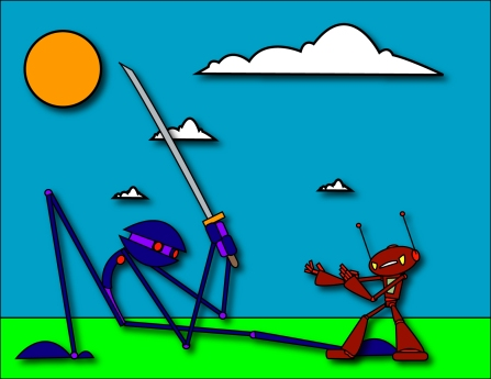 ChingyRobot fights a Ninjabot
