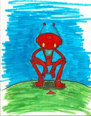 ChingyRobot Observes Some Ants