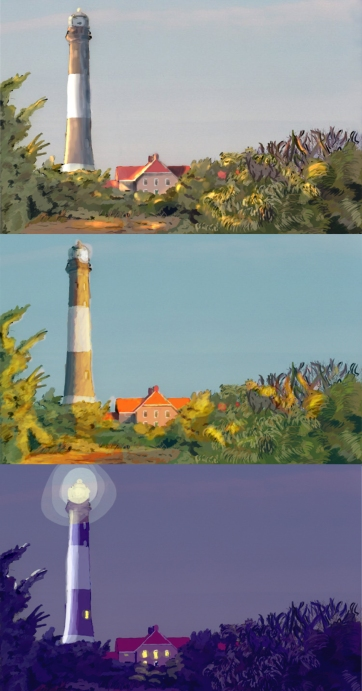 Lighthouse Sun Cycle