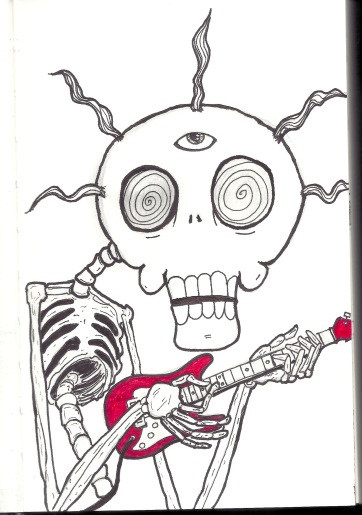 Psycho Skele Not Playing a Tele