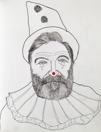 Robin Williams as Canio (Pagliacci) the sad clown