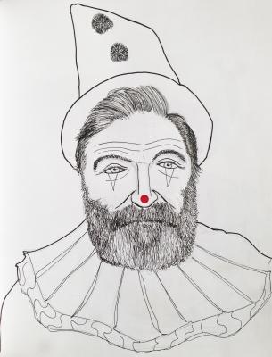 Robin Williams as Canio (Pagliacci) the sad clown