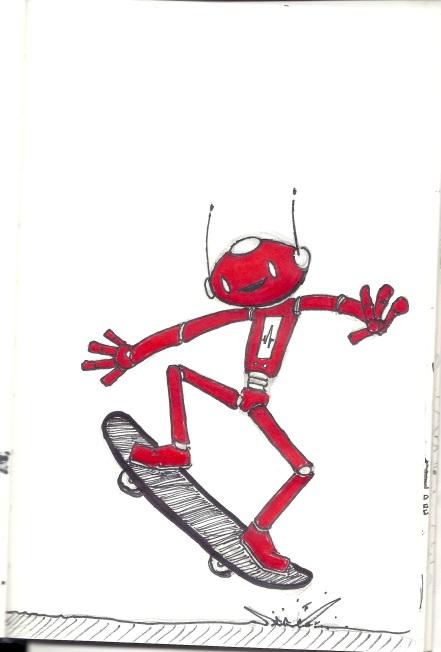 ChingyRobot on a Skateboard