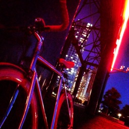 Red Bike Night Time
