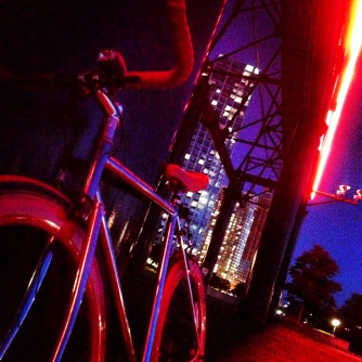 Red Bike Night Time