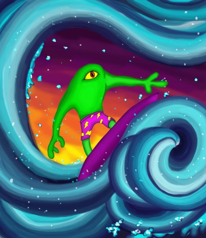 Universe Surfer Flowing
