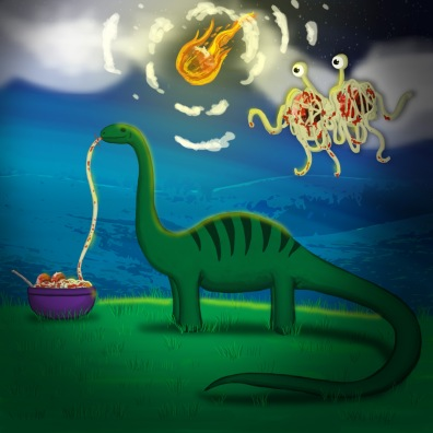 The Dinosaurs Ended with a MEATeor.