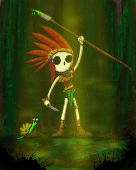 The Gully Goo Tribesman and his Poisonous Spear
